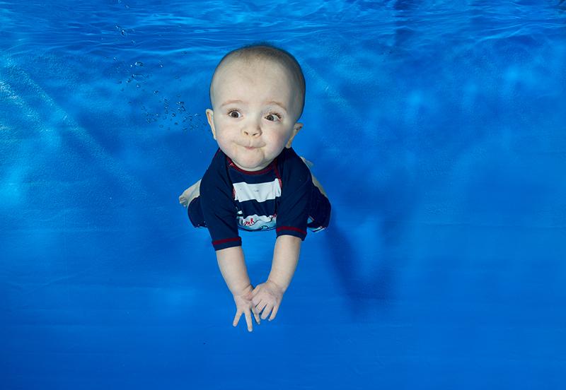 premature baby swimming